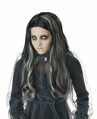 Bloody Girl Costumes (California Costumes Bloody Mary Girl Wig Children Wig, Black)