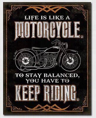 Life Is Like Motorcycle Metal Tin Sign Home Garage Bar Shop Wall Decor #2291