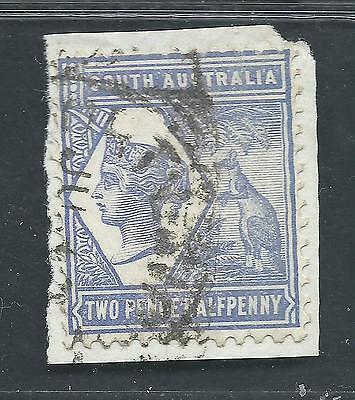 SOUTH AUSTRALIA Scott 102 used 1894 2 1/2p blue violet kangaroo & palm