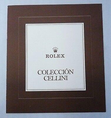 ROLEX CELLINI Vintage Price List 1981 Spain 4313 4315 Queen King Midas 4312 4311