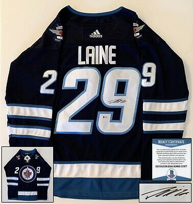 Patrik Laine Signed Jersey Winnipeg Jets Beckett BAS COA