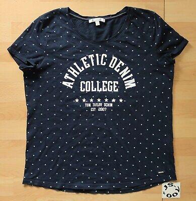 Denim-t-shirt Top (TOM TAILOR DENIM T-SHIRT ALLOVER STERNE PRINT MOTIV SHIRT KURZARM BLAU L TOP!)