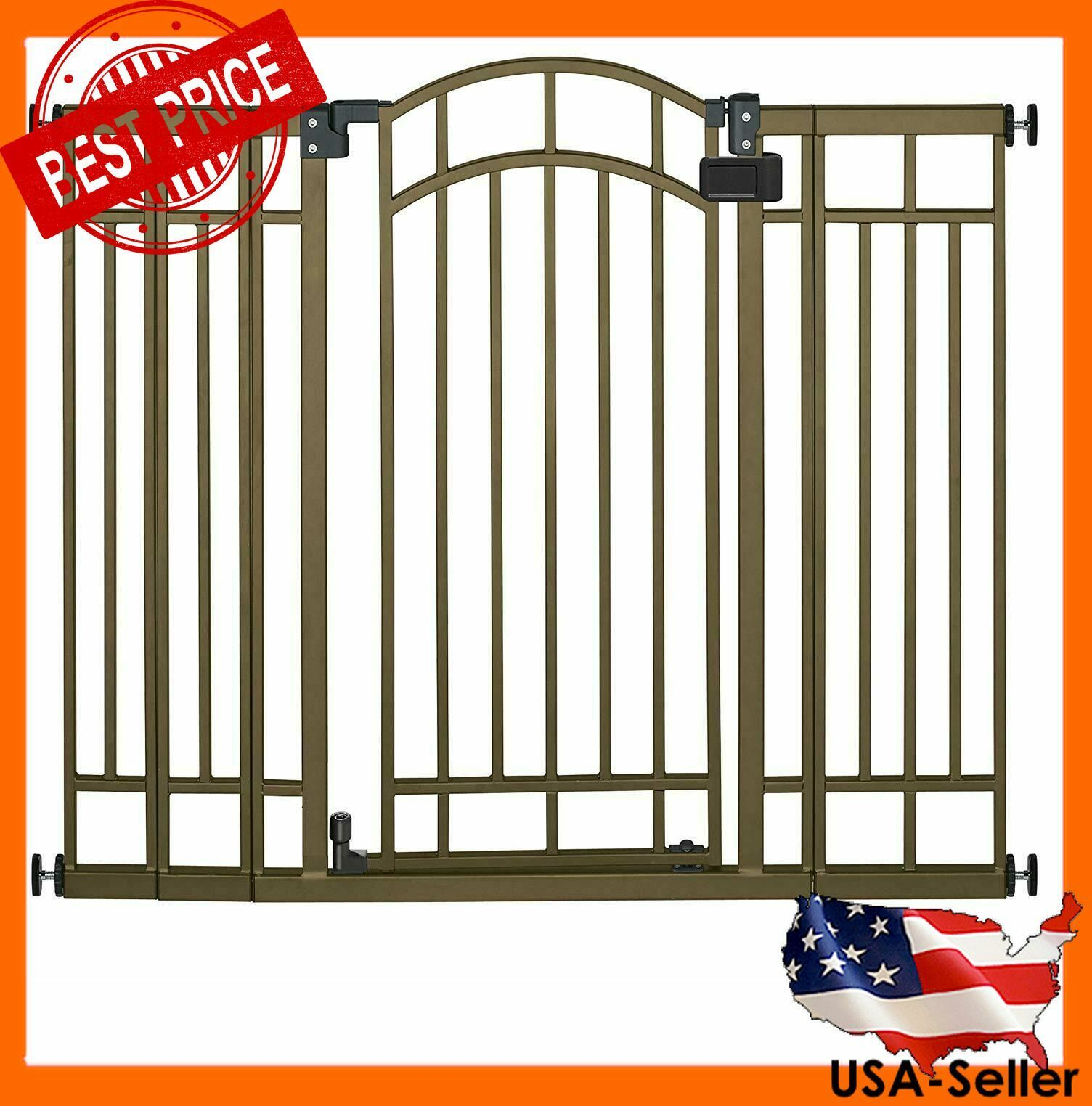 Summer Infant Multi-Use Deco Extra Tall Walk-Thru Gate, Bron