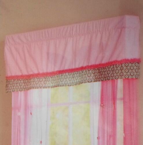 Summer Girls Juliette Pink Window Valance Floral Nursery Girl