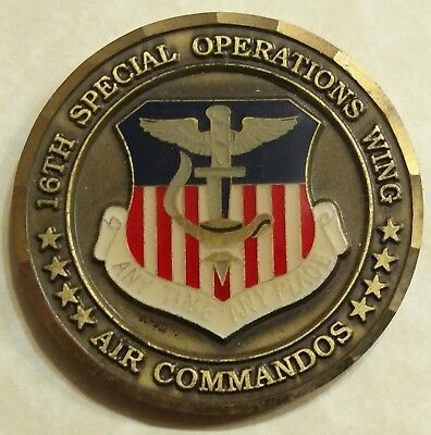 16th Special Operations Wing Command Chief Air Force Challenge Coin