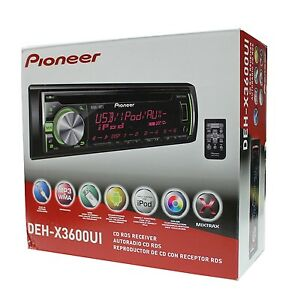 NEW-PIONEER-DEH-X3600UI-SINGLE-DIN-CD-MP3-WMA-IPOD-CAR-RADIO-W-PANDORA-LINK