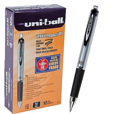 Box of 12, Black Uni-ball 207 Impact RT, 1.0 mm, 65870