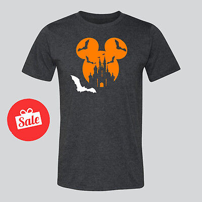 Disney Mickey Mouse With Bat Halloween Mens Shirt. Disneyland Unisex Shirt - Man Bat Halloween