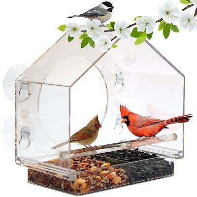 Window Bird Feeder by Nature Anywhere (Size:Large). GIFT EDITION. Includes Free,