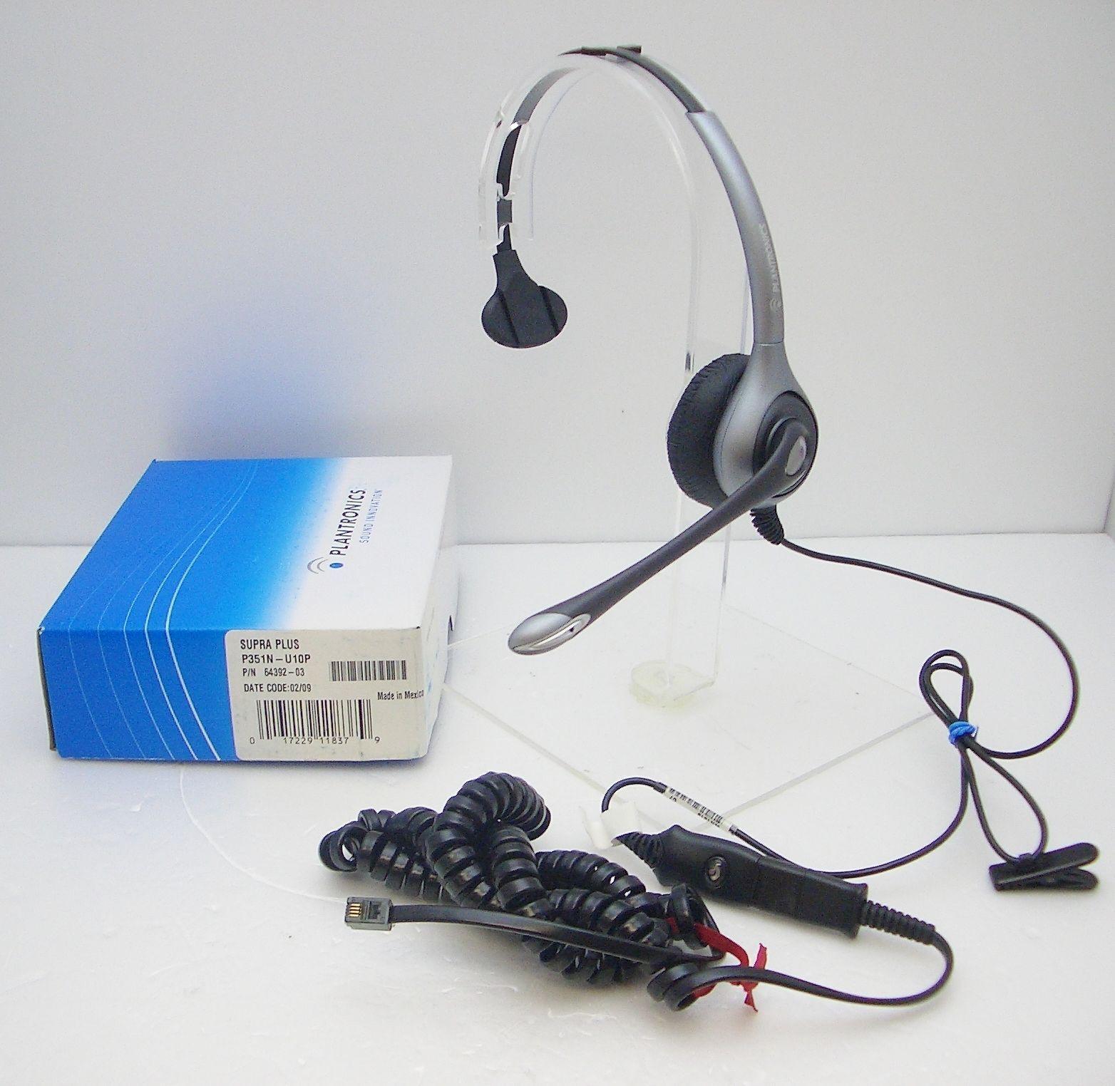 H251-U10P Monaural Headset for SNOM Toshiba Siemens Mitel Avaya Polycom 3Com NEC