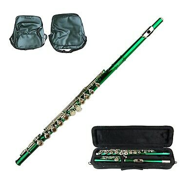 Merano Green Flute With Carrying Case Music Sheet Bag Accessories - $89.99