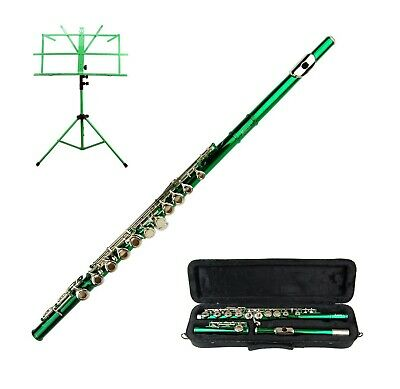 Merano Green Flute With Carrying Case Music Stand Accessories - $89.99