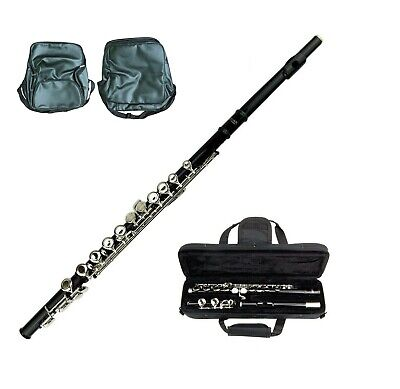 Merano Black Flute With Carrying Case Music Sheet Bag Accessories - $89.99