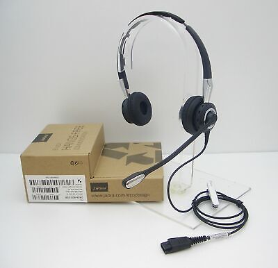Jabra BiZ 2400 II DUO Over-The-Head Noise-Canceling QD Headset NEW 2409-820-205, used for sale  Shipping to India