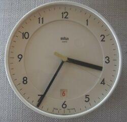 Rare Braun Quartz Wall Clock 4823 ABK 40  Germany  Dietrich Lubs-non working