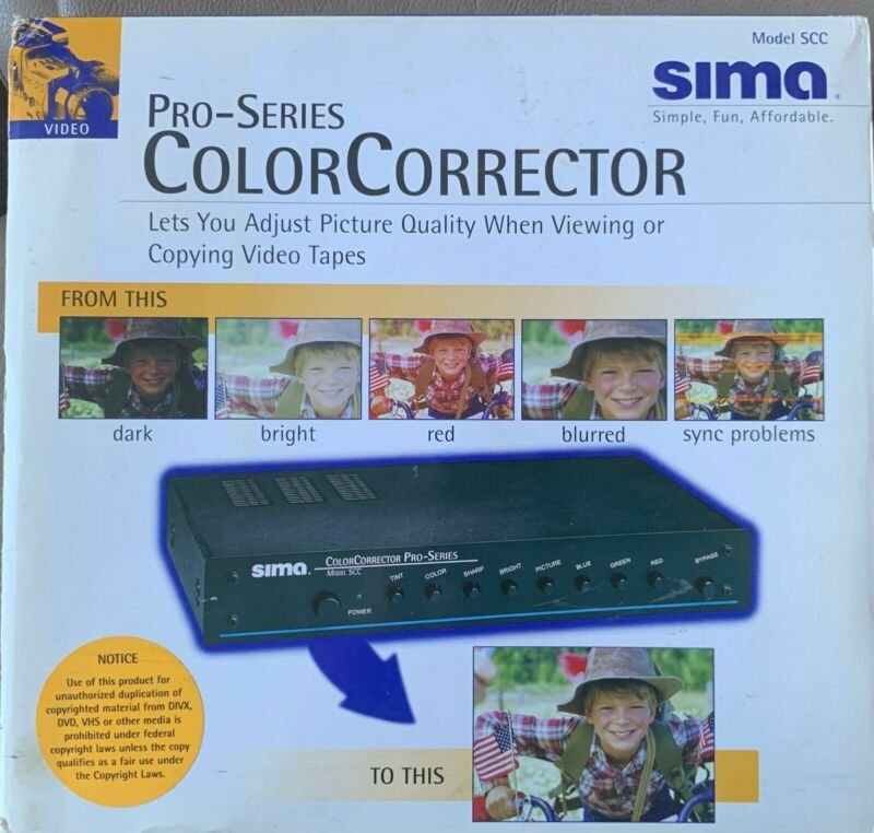 SIMA Pro-series Color Corrector (SCC) - Still Sealed, Never Opened!