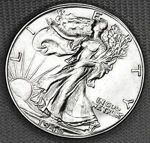 1946-d Liberty Walking Half. High Grade