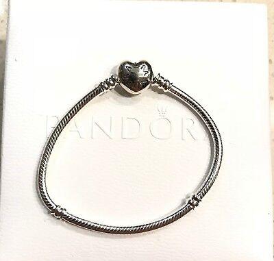 Pandora Heart Clasp Bracelet #590719 ~Choose Size +Bracelet Box / Pouch & Cloth