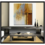 ABSTRACT MODERN PAINTING CANVAS WALL ART LARGE US SIGNED ELOISExxx