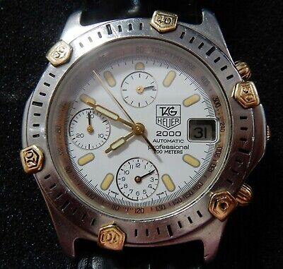 Tag Heuer 2000 Men's Automatic Chronograph 18Kt Gold & Steel With Boxes & Papers