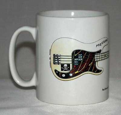 Guitar Mug. Paul Simonon's Fender Precision Bass illustration.