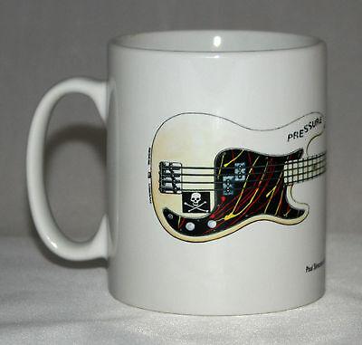 Guitar Mug. Paul Simonon's Fender Precision Bass illustration.