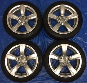 "2014 Audi A5 OEM 18"" Wheels & Michelin Winter Tires 90%"