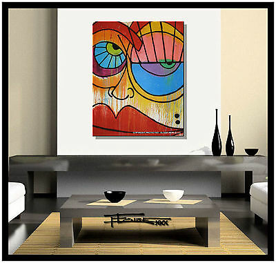 ABSTRACT PAINTING MODERN Canvas WALL ART framed, signed US ELOISExxx