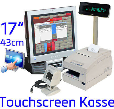 17 Touchscreen Cash Register System Receipt Printer Barcode Scanner Retail