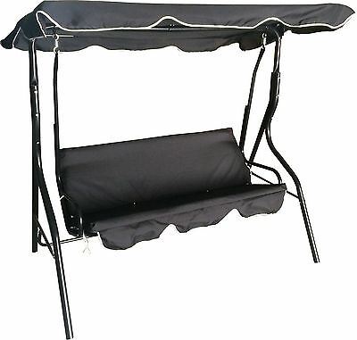 Garden Swinging Hammock 3 Seater Swing Bench Seat Cushions Lounger Outdoor Patio