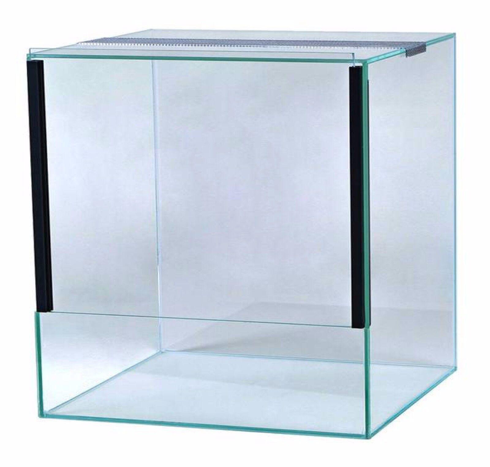 Glas Terrarium Schiebetür Falltür Glasterrarium Reptilien Spinnen viele Größen 30x30x30 Falltür