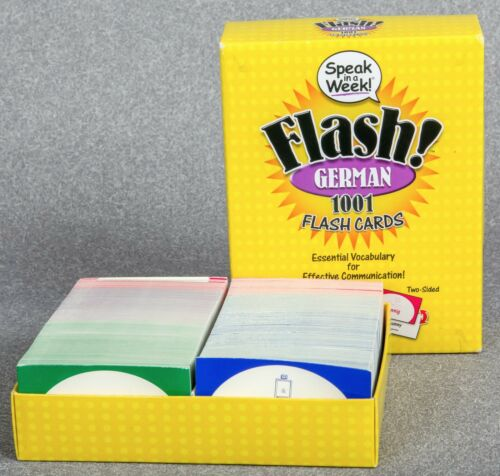 FLASH German 1001 Flash Cards 978-1-59125-949-7