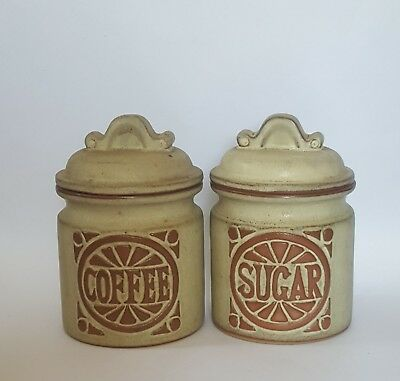 Vintage Storage Coffee Sugar Jars Louis Hudson Style Cornish Studio Pottery