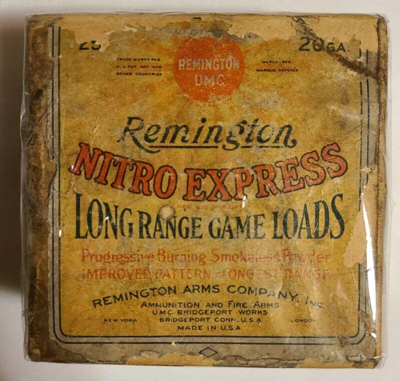 Vintage Remington Nitro Express 20 Gauge 2 Piece Shotgun Shell Box