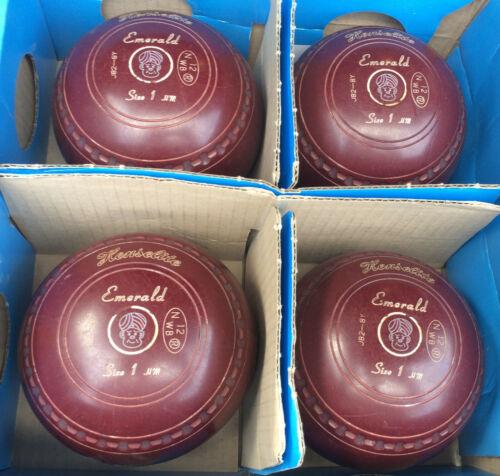 Henselite Lawn Bowls Set of 4 Size 1H(heavy)