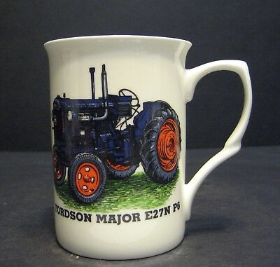 FORDSON MAJOR E27N P6 TRACTOR Fine Bone China Mug Cup Beaker, used for sale  Shipping to United States