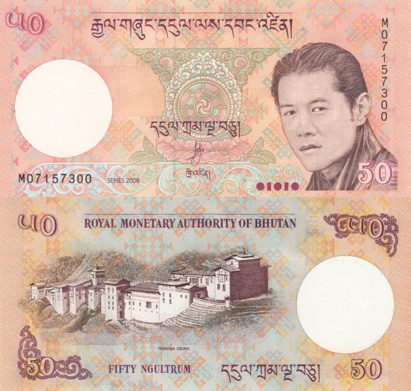 Bhutan 50 Ngultrum (2013) -  Tongsa Dzong Palace/p31b UNC