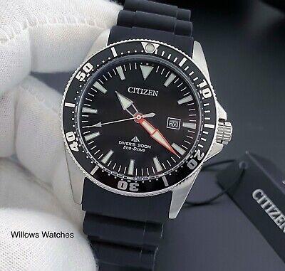 Citizen Promaster Eco-Drive Men's 200M Black Dial Divers Watch BN0100-42E New