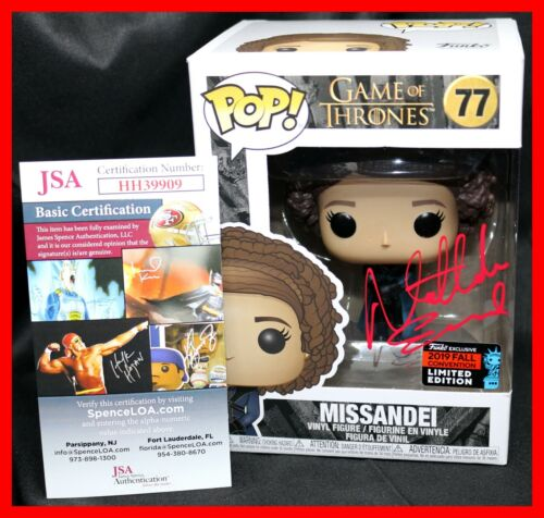 🔥 Nathalie Emmanuel Signed Missandei Game Of Thrones Exclusive Funko POP JSA 🔥