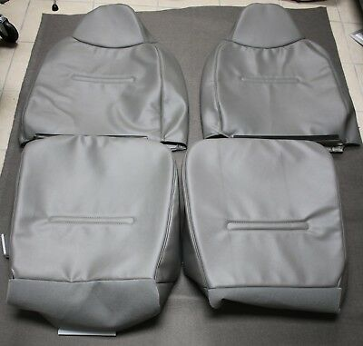 2002 T0 2007 Ford F250 F350 F450 F550 XL Front Full Package Seat Cover Gray -