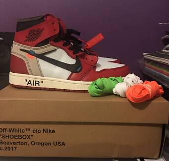 Off White x Nike Air Jordan 1 Virgil Abloh Size US 9.5 Brand New