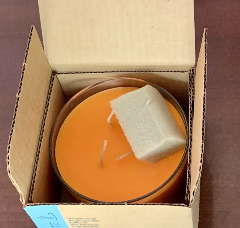 PartyLite 3 Wick Scented Candle Juicy Clementine 17.3 Oz G34360 2011 Jar New