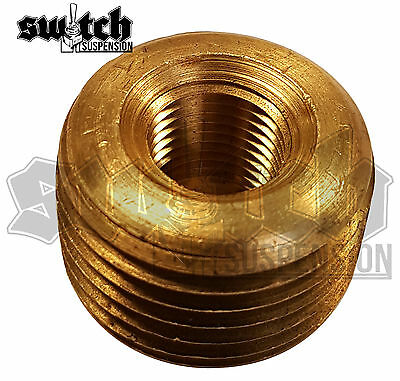 - Brass Pipe Fitting 3/8 NPT Male to 1/8 NPT Female Reducer Face Bushing