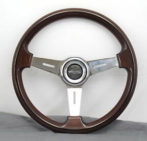 Luisi Steering Wheel Mugello Classico II - 370mm - Wood / Polished Made in Italy