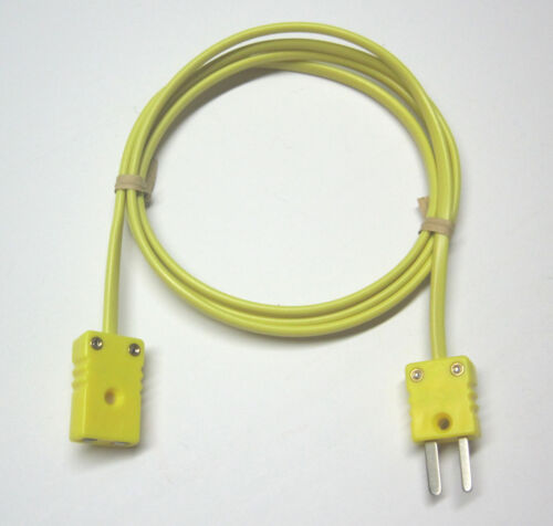 K-Type Thermocouple extension cable wire with miniature mini connectors 3-15 ft