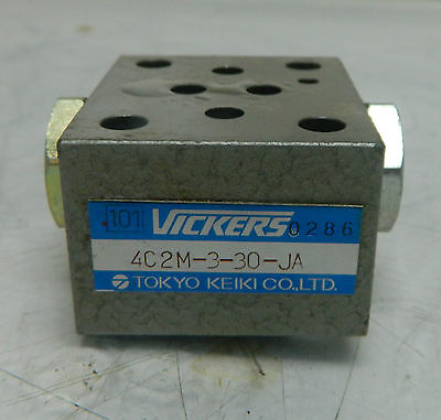 Vickers Hydraulic Valve 4c2m-3-30-ja Used Warranty