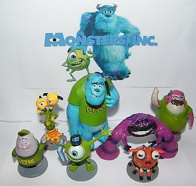 Disney Monsters Inc Party Favors Set Of 7 Large Figures With Sullivan  Mike  Art