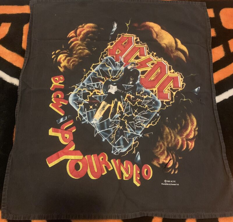 ACDC BLOW UP YOUR VIDEO 1988 Vintage Bandana