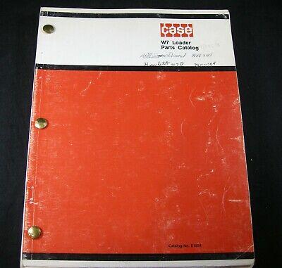 Case W7 Loader Tractor Parts Manual Book Catalog List Oem