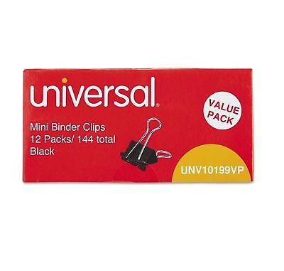 """Universal Steel Wire Binder Clips 1/4"""" Capacity 1/2"""" Wide Mini 144 ct--Free Ship"""